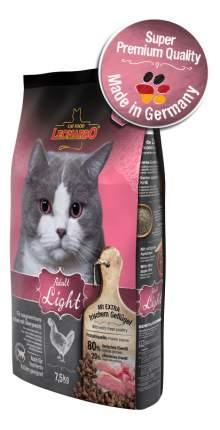 Сухой корм для кошек Leonardo Adult Light, при ожирении, курица, 7,5кг