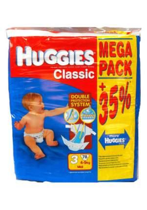 Подгузники Huggies Classic Mega 3 (4-9 кг), 78 шт.