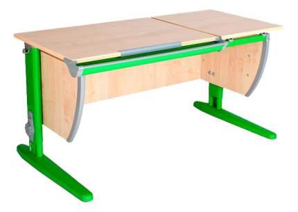 Парта Дэми Классик 120 см двойная столешница клен/зеленая