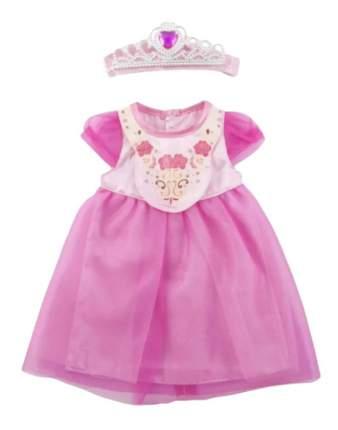Одежда для кукол Junfa toys - платье в наборе с короной, от 1 года