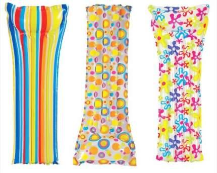 Надувной матрас с подголовником Intex Action Print Mats цвет в ассортименте