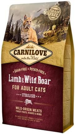 Сухой корм для кошек Carnilove Sterilised, для стерилизованных, ягненок, 2кг