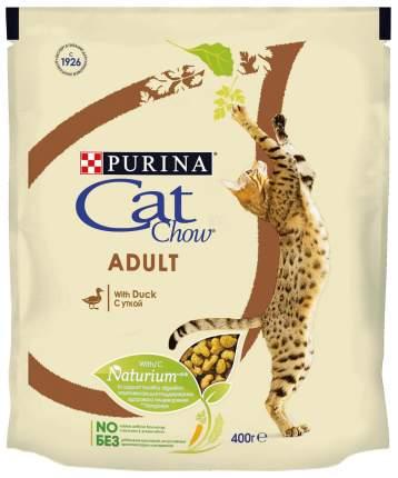 Сухой корм для кошек Cat Chow Adult, утка, 0,4кг