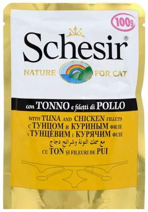 Влажный корм для кошек Schesir тунец и цыпленок 100 г