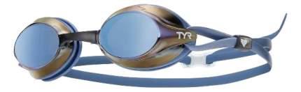 Очки для плавания TYR Velocity Mirrored LGVM синие/коричневые (481)