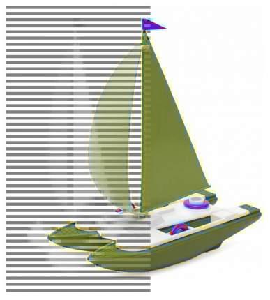Игрушка для купания Росигрушка Катамаран 9114