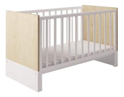 Кровать-трансформер Polini Classic 140 х 70 см, дуб - белый глянец