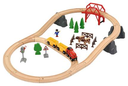 Железнодорожный набор Brio Поездка по сельской местности с мостом 33909