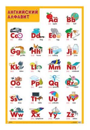 Интерактивный плакат Мозаика-Синтез Английский Алфавит