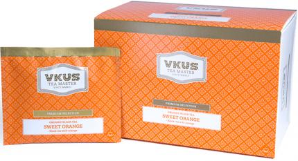 Чай черный Vkus сладкий апельсин 20 пакетиков
