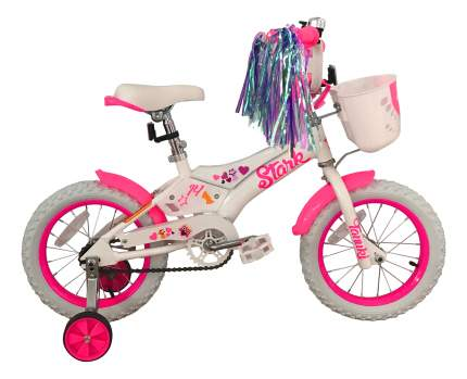 Велосипед Stark Tanuki 14 Girl 2018 onesize Tanuki 14 Girl белый/розовый