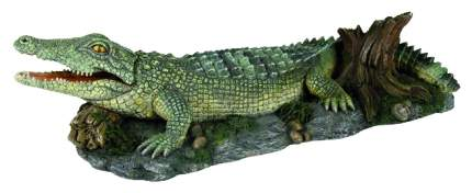 Грот для аквариума TRIXIE Crocodile Крокодил, полиэфирная смола, 10х25х6 см
