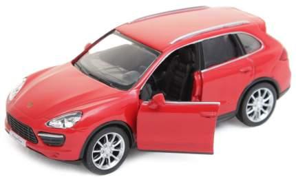Машина автодрайв porsche gayenne turbo 1:32 матовый красный Рыжий кот и-6022