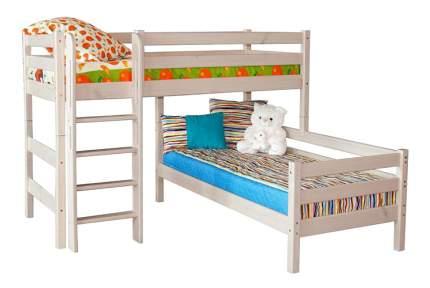 Кровать МебельГрад Угловая Соня с прямой лестницей (вариант 7)