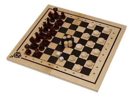 Рыжий кот Набор 3 в 1 нарды шашки шахматы ин-7510