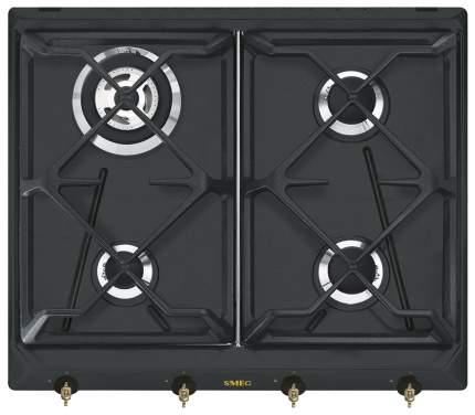 Встраиваемая варочная панель газовая Smeg SRV 864 AOGH Black