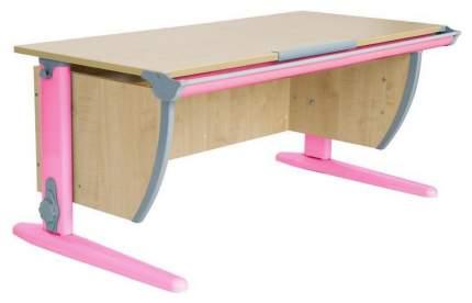 Парта Дэми СУТ 15-02Д2 с двумя двухъярусными задними и боковой приставками Розовый 120 см