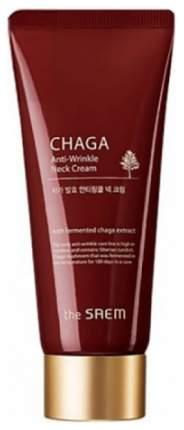 Крем антивозрастной The Saem Chaga Anti-wrinkle Neck Cream для области шеи 100 мл