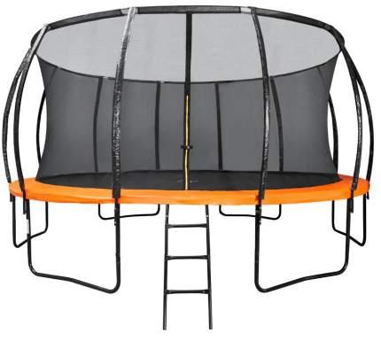 Батут DFC Kengoo с сеткой и лестницей оранжевый/черный 610 см