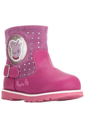 Полусапожки детские Peppa Pig, цв.розовый, р-р 21