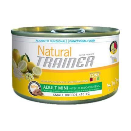 Консервы для собак TRAINER, для мелких пород, говядина, рис и женьшень, 150г