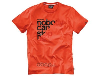 Мужская футболка Mini 80142288453 Unstoppable Orange
