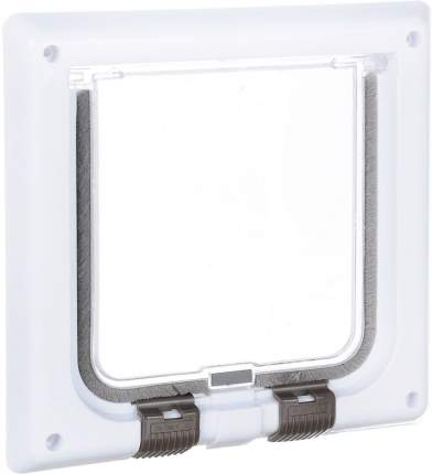 Дверца для кошек TRIXIE 4-Way Cat Flap, белая, 14,7х15,8см