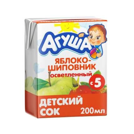 Сок Агуша Яблоко и шиповник с 5 мес 200 мл