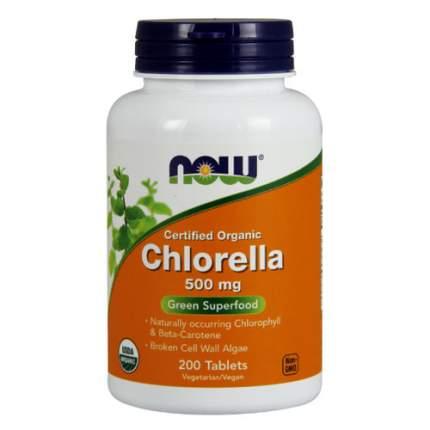 NOW Chlorella 500 мг (200 таблеток) - Хлорелла водоросль
