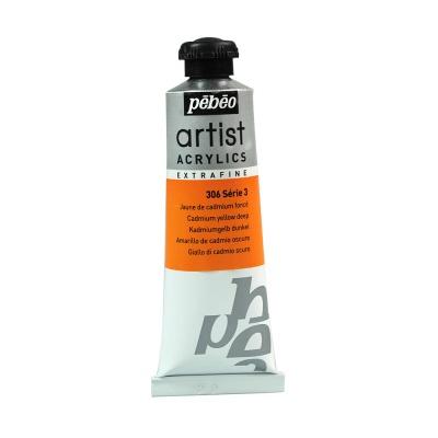 Акриловая краска Pebeo Artist Acrylics extra fine №3 темно-желтый кадмий 37 мл