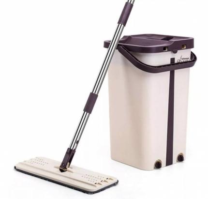 Комплект для мытья пола Scratch Anet: швабра + ведро, с механизмом отжима