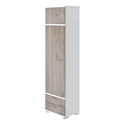 Платяной шкаф Мэрдэс Домино КС-10 MER_KS-10_BEN 55,3x42,7x213, белый
