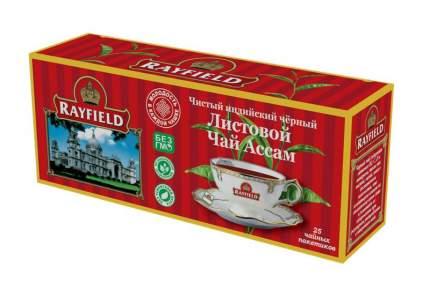 Чай черный Rayfield листовой ассам чистый индийский  25 пакетиков 50 г
