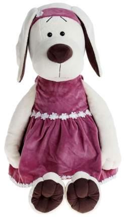 Мягкая игрушка «Собачка Лапуська» в бархатном платье Orange