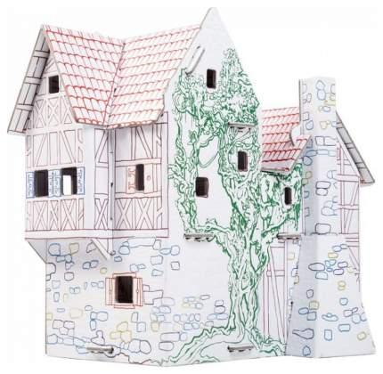 """243-2 Сборный домик-раскраска из картона """"Пекарня"""""""