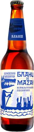 Пиво Volkovskaya Pivovarnya Blanche de Mazaj 0.45 л