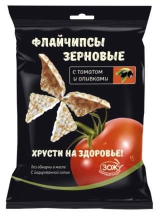 Флайчипсы зерновые с томатом и оливками 40 г