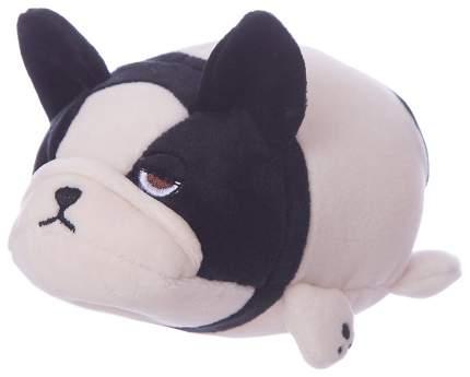 Собачка розовая с черным, 13 см игрушка мягкая