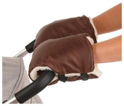 BAMBOLA Муфты-варежки на липучках шерстяной мех+плащевка (Лайт) Шоколад