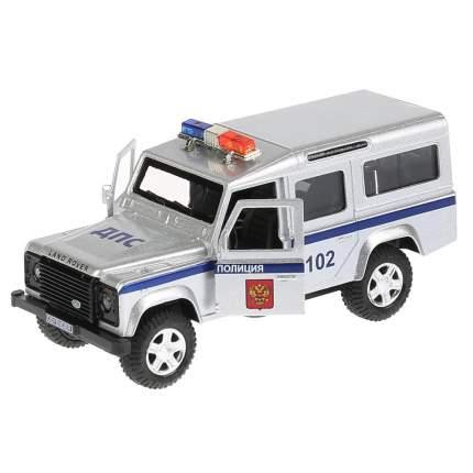 Машинка Технопарк Land Rover Defender Полиция со звуковыми и световыми эффектами 12см