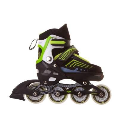 Раздвижные роликовые коньки RGX Atom Green LED подсветка колес XS 27-30