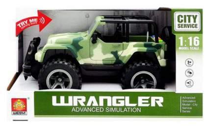 Джип Junfa toys зеленый 1:16 световые и звуковые эффекты