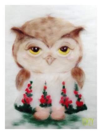 Картина из шерсти TOYZY TZ-P027 Влюбленная сова