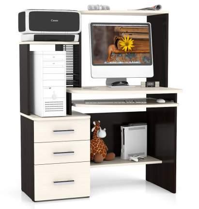 Компьютерный стол Мебельный Двор СК-3, венге/дуб молочный