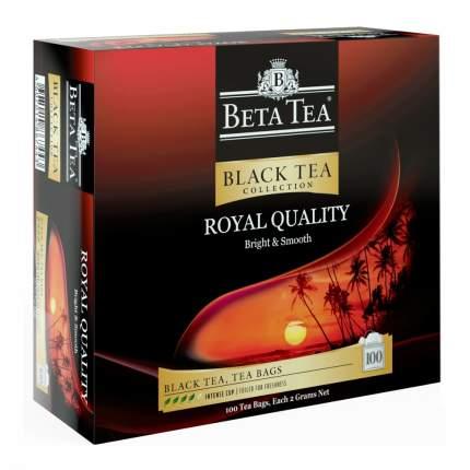 Чай Beta Tea Королевское качество черный листовой 100 пакетиков