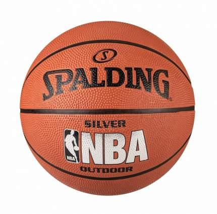 Баскетбольный мяч Spalding NBA Silver Series Indoor/Outdoor №5 brown