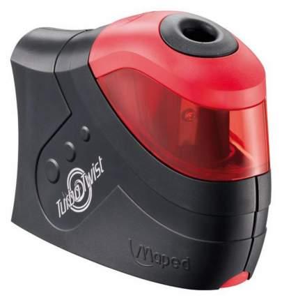 Точилка электрическая TURBO TWIST, черно-красный, 1 отверстие, пластик Maped
