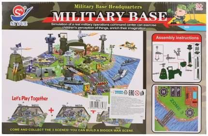 Игровой набор Военная база, фигурки, техника, строения, аксессуары, коробка