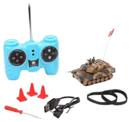 Радиоуправляемый танк Наша игрушка масштаб 1:64, запасные гусеницы, дорожные конусы 4шт.