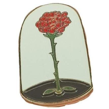 """Значок эмалированный """"Маленький принц. Роза"""""""